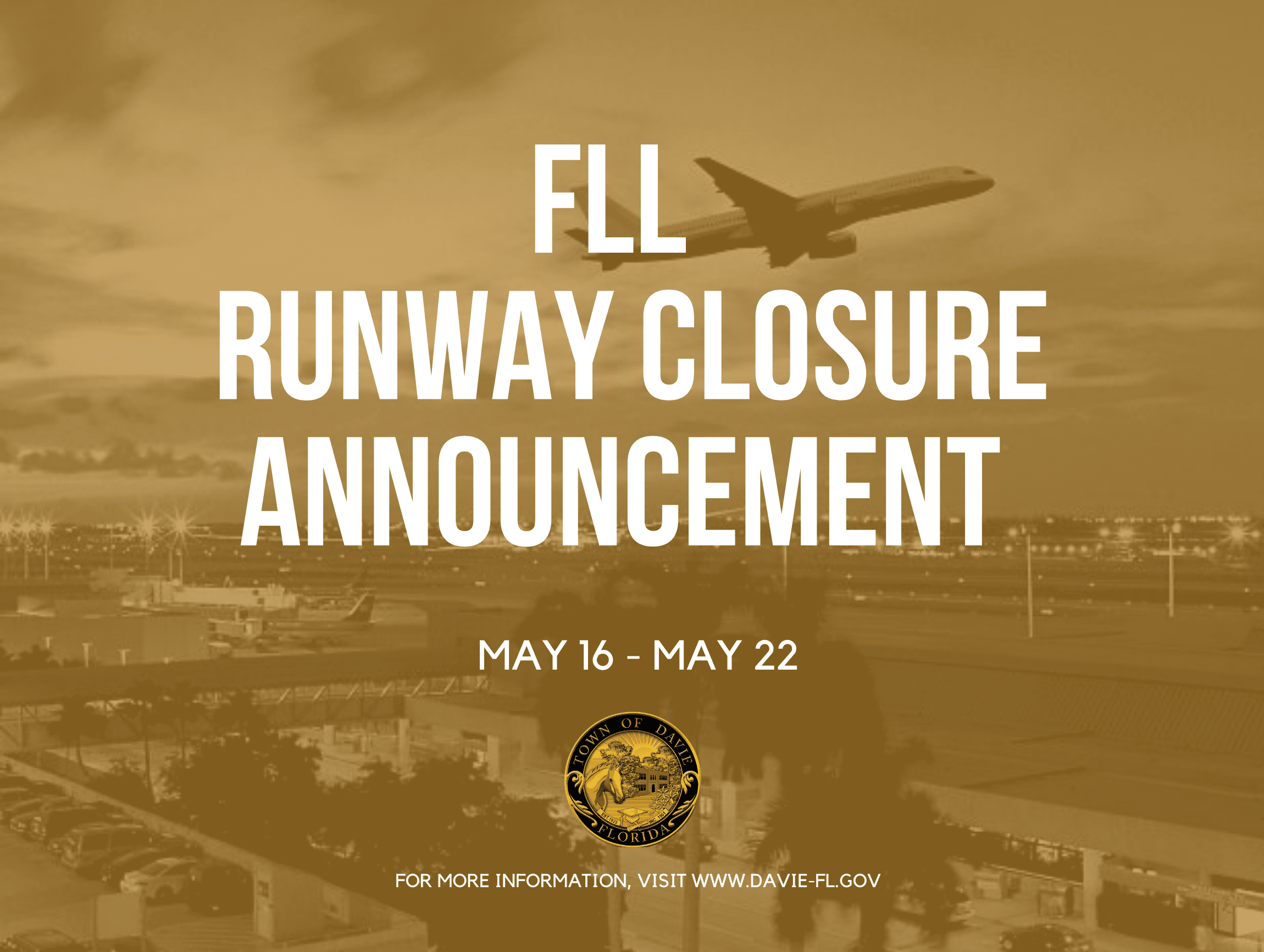 FLL RUNWAY CLOSURE  - Website