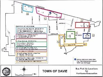 Archived Davie Offers Transportation For Residents Who Need To Evacuate To Shelters Map For Evacuation_bus Routes
