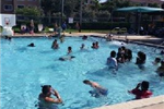 People Swimming at the Betty Booth Roberts Pool